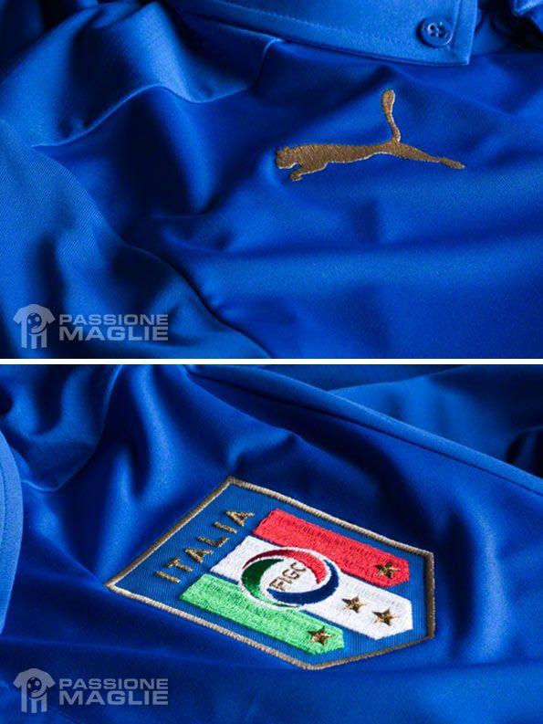 Dettagli maglia Italia Brasile 2014
