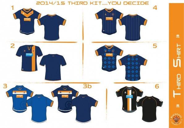 Opzioni terza maglia Blackpool 2014-15