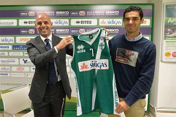 Seconda maglia verde Scandone Avellino 2013-14