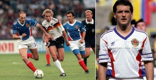 Maglie Jugoslavia Mondiali 1990
