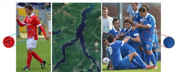 Il lago di Como sulle maglie Legea