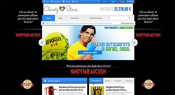 Il sito Charitystars.com