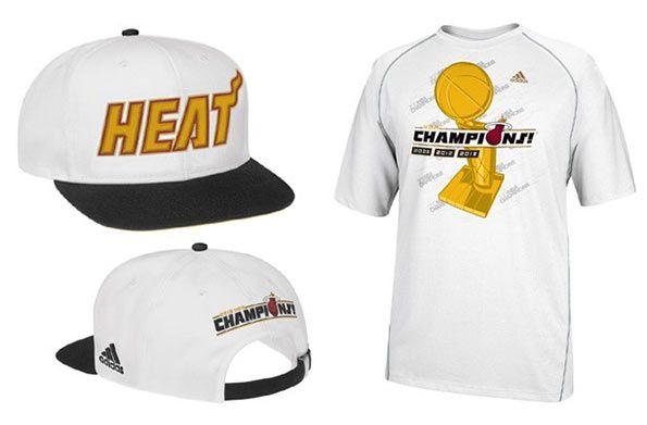 T-shirt e cappello celebrativi Miami Heat