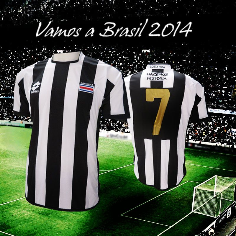 Maglia Costa Rica bianconera 2013 Lotto