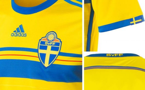 Maglia Svezia 2014-2015 dettagli