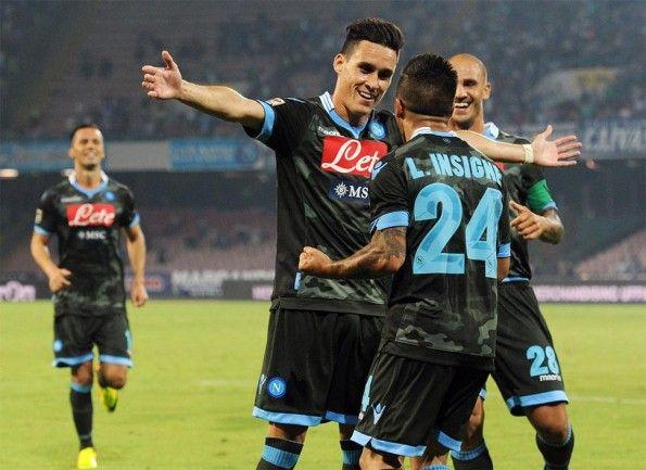 Callejon e Insigne maglia away Napoli