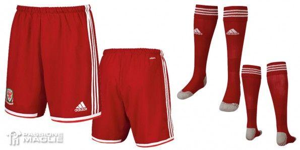 Pantaloncini calzettoni Galles home 2013-14