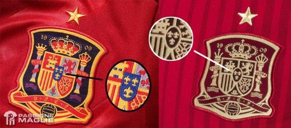 Cambio stemma maglia Spagna 2014