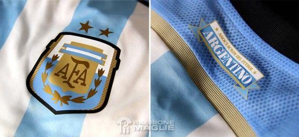 Dettagli maglia Argentina Mondiali 2014