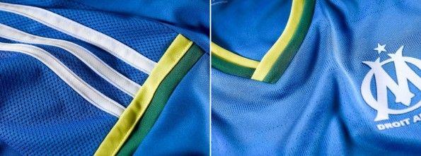Dettagli quarta maglia del Marsiglia 2013-2014