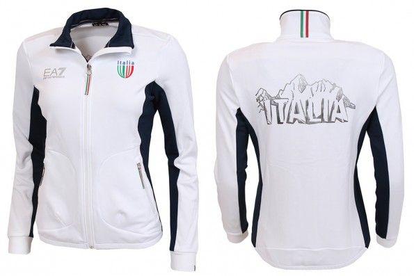 Felpa zip Italia Sochi 2014