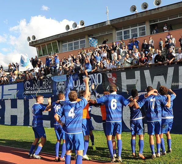 Foligno 2013-2014 giocatori tifosi