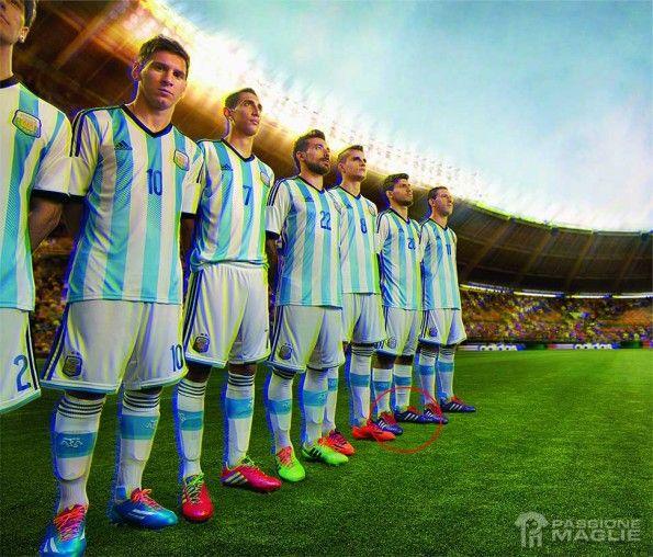 Formazione Argentina Aguero scarpe adidas