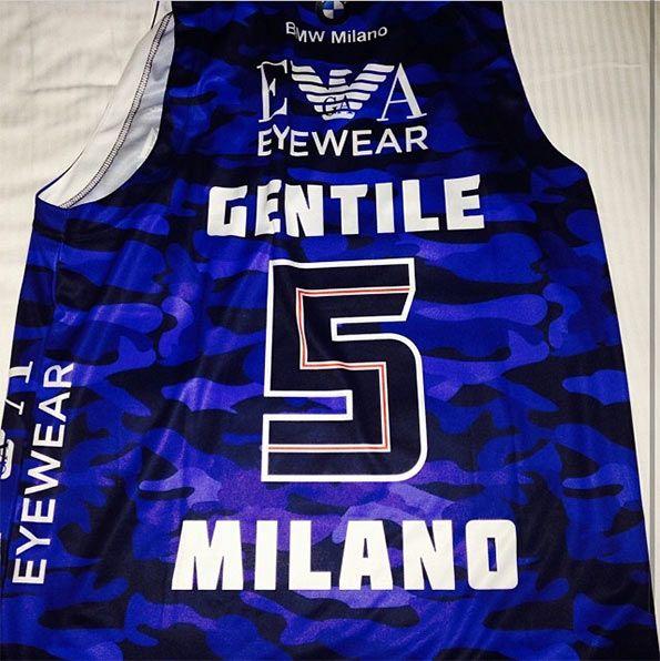 EA7 Olimpia Milano Mimetica 2013-2014