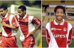 Henry e Trezeguet con la maglia del Monaco 1996-1998