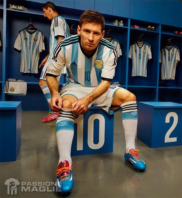 Messi kit Argentina 2014 Mondiali
