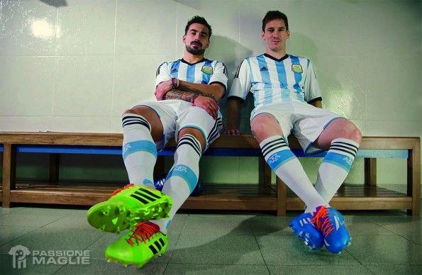 Messi e Lavezzi maglia Argentina 2014-2015