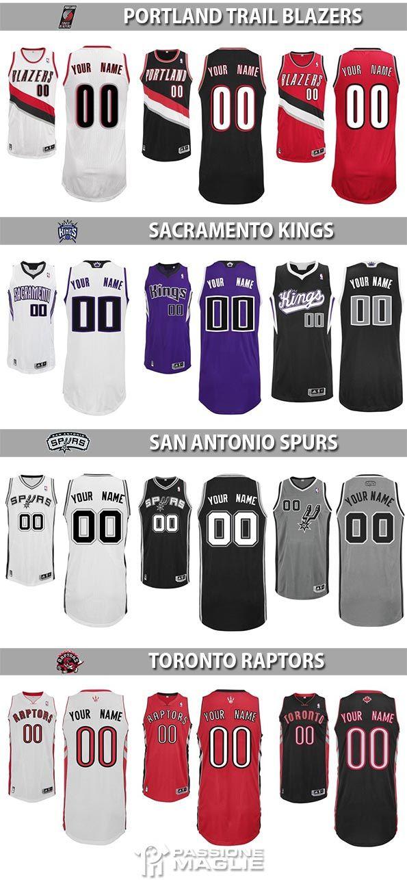 Divise NBA Portland, Sacramento, San Antonio, Toronto