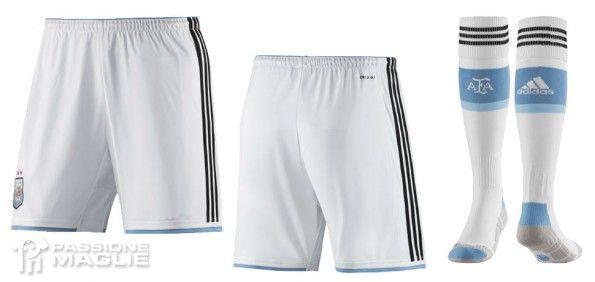 Pantaloncini calzettoni bianchi Argentina 2014