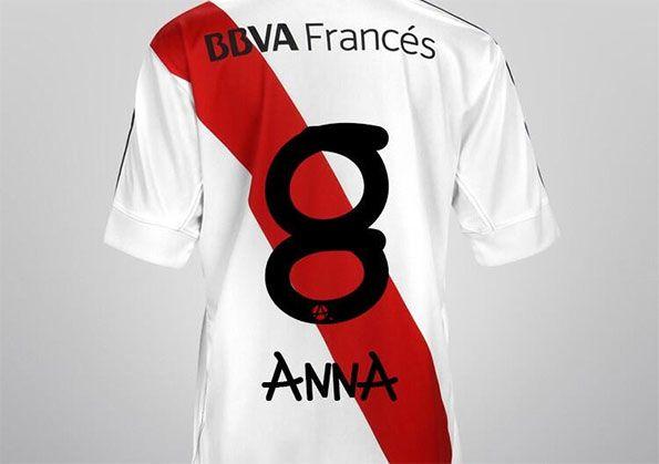 Maglia River Plate font Anna Vives
