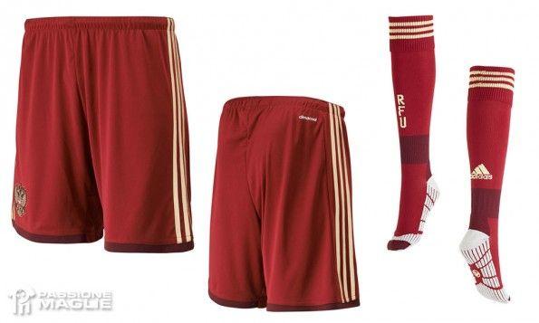 Pantaloncini calzettoni Russia 2014-15 home