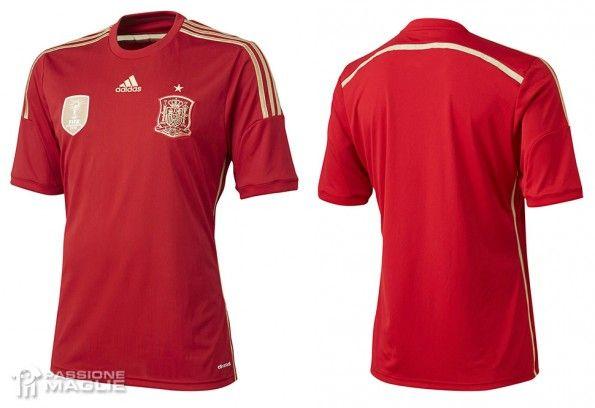Maglia Spagna Mondiali 2014 adidas