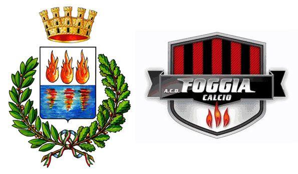 Gli stemmi di Foggia città e Foggia Calcio