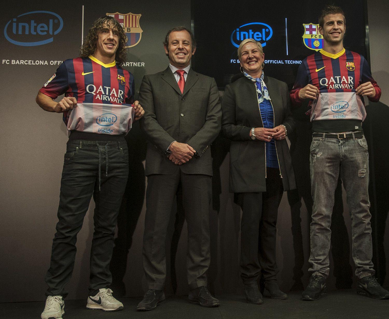 Barcellona Intel presentazione sponsor
