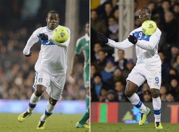 Balotelli copre baffo scarpe Nike Italia-Nigeria