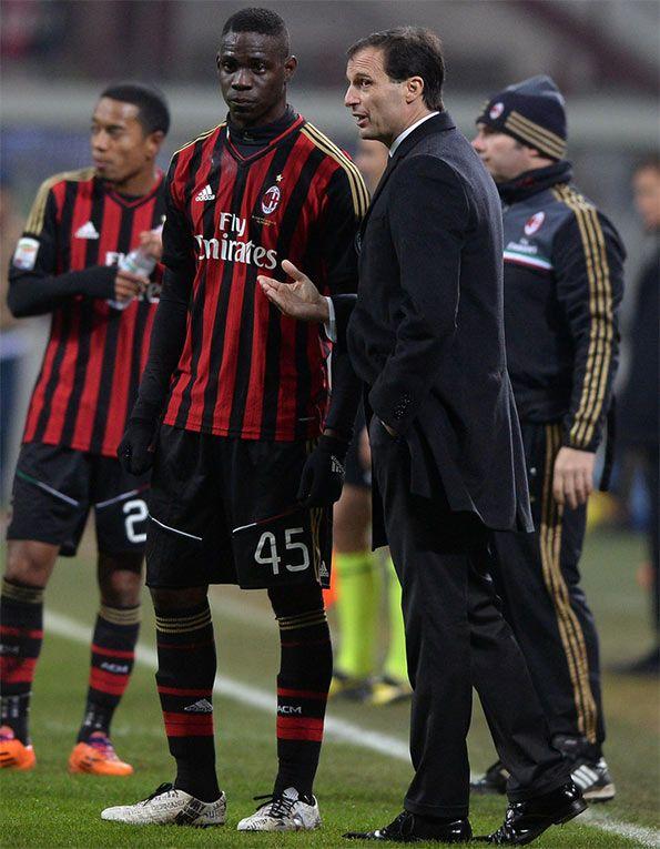 Mario Balotelli in Milan-Roma