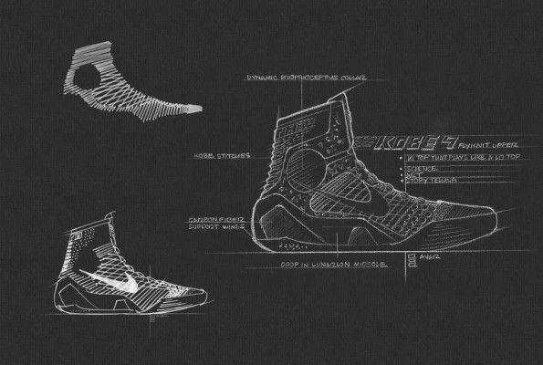 Disegno progettazione Nike Kobe 9 Elite