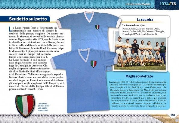 Pagina anni '70 Lazio libro