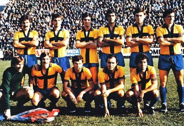 Parma 1977-1978 seconda divisa crociata gialloblu