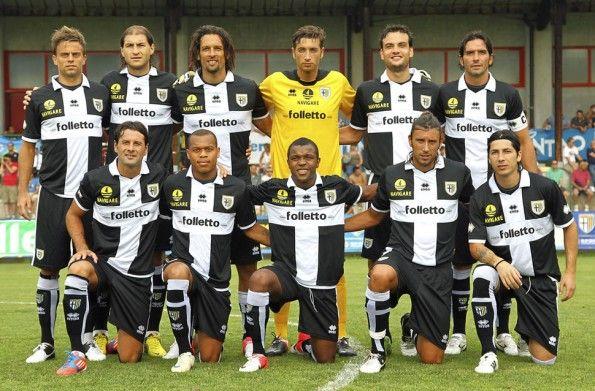 Parma 2012-2013 maglia away crociata nera