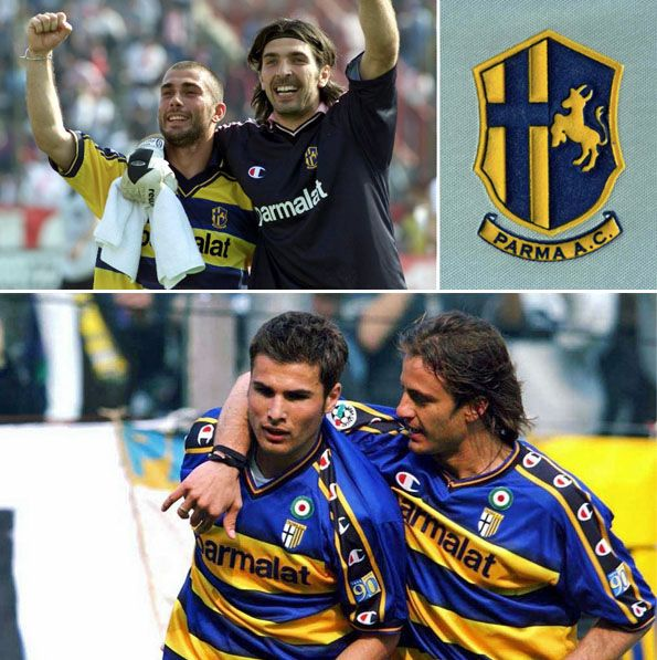 Parma, stemma 2000-2001, patch 90 anni 1913-2003