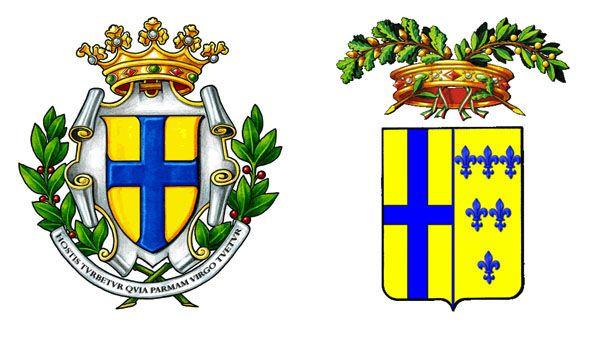 Stemmi comune e provincia di Parma