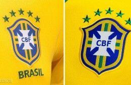 Confronto stemma CBF Brasile