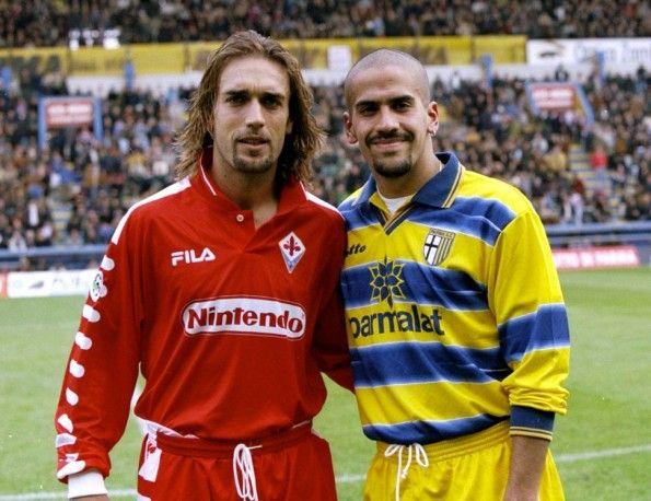 Parma Fiorentina 1998-1999 Veron Batistuta