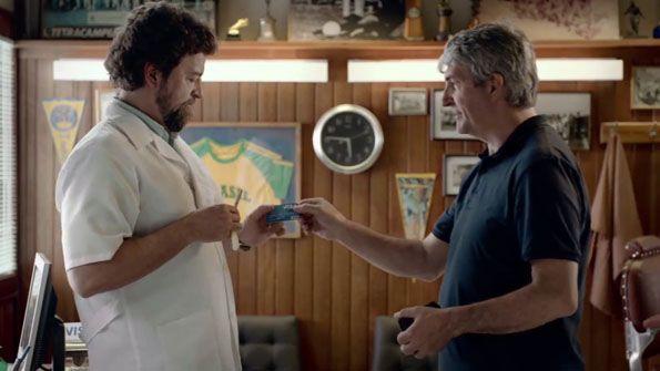 Visa pubblicità mondiali Brasile 2014 Paolo Rossi barbiere