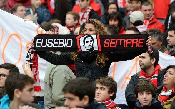 Sciarpa Eusébio Sempre Benfica