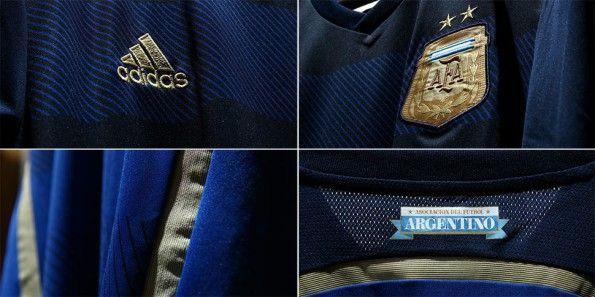 Dettagli kit away Argentina Mondiali 2014