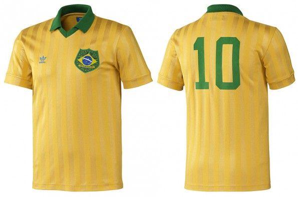Maglia Brasile retrò adidas 2014