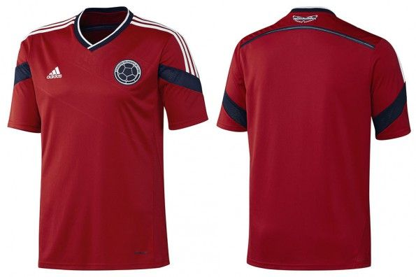 Seconda maglia Colombia rossa 2014
