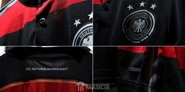 Dettagli maglia away Germania Mondiali 2014