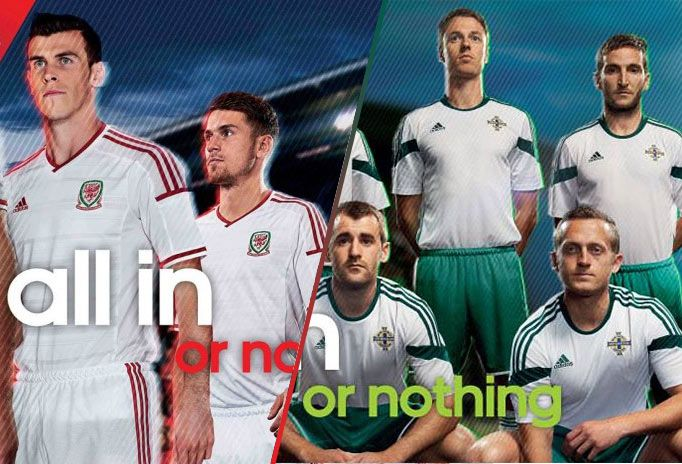 Kit away Galles Irlanda Nord 2014