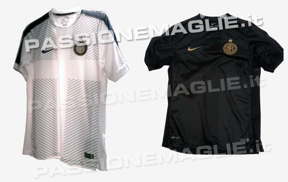 carestia raccogliere perlaceo  Maglie pre-gara/training Nike 2014-15 Inter, Roma, Barcellona, United
