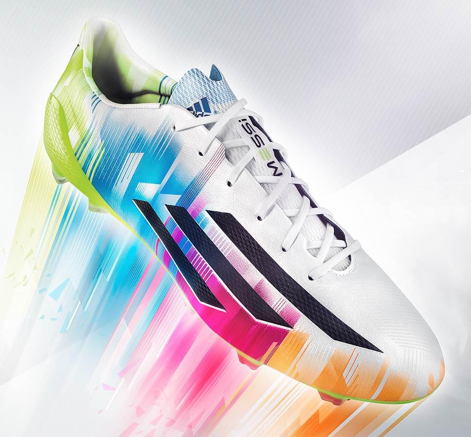 Le scarpe F50 Messi 2014 di adidas con grafica multicolor