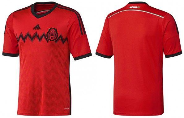 Seconda maglia Messico 2014 adidas
