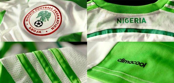 Dettagli divisa bianca Nigeria 2014