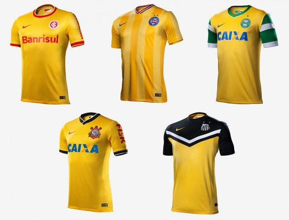 Terza maglie gialle Nike Brasile 2014